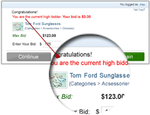What means, You are the High Bidder