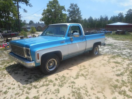 1979 gmc  heavy half  350 tb350  cold ac  power,steering,brakes,window an locks  131xxxmles