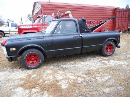 1971 custom c 10  ratrod wrecker   350  350tb