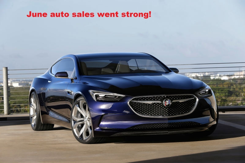 June auto sales went strong!