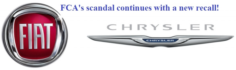 FCA's scandal continues with a new recall!