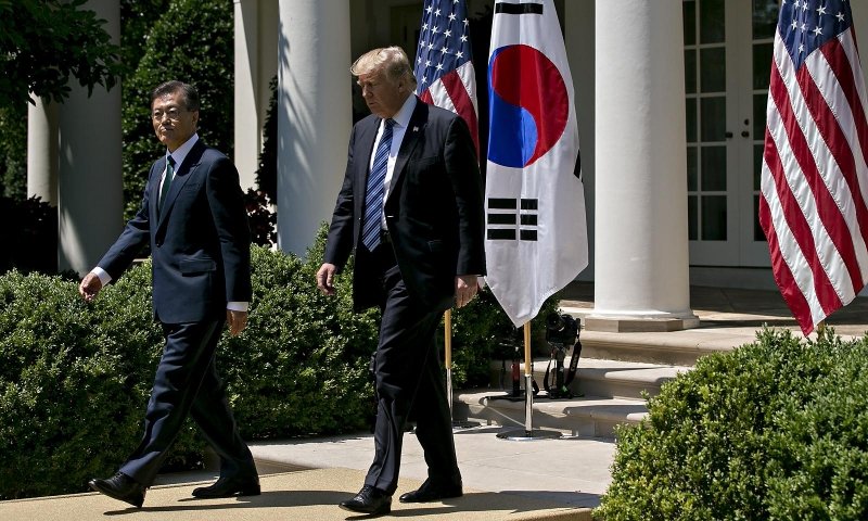 Trump in South Korea: demanding fair shake for U.S. automakers