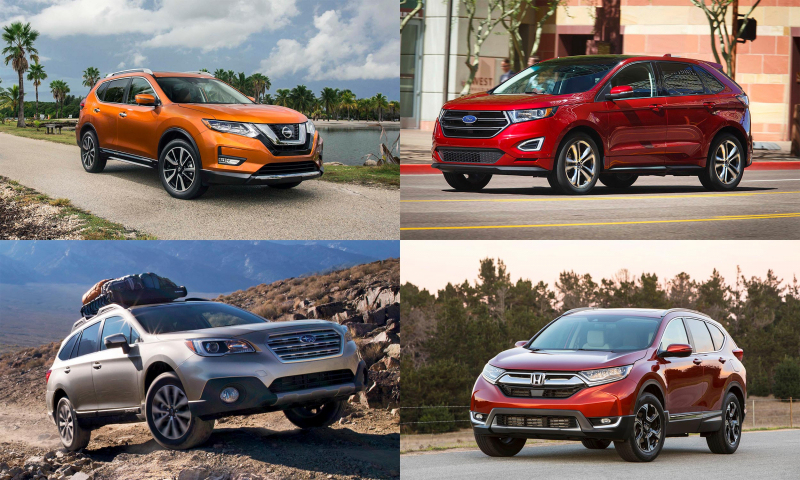 Who's battling for the titles of America's best selling cars and CUVs?