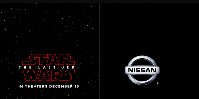 "As brand hype for ""Last Jedi"" begins, Nissan starts Star Wars campaign"