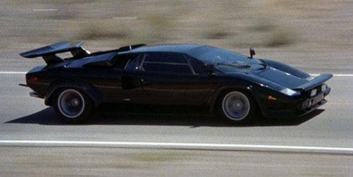 Cannonball Run movie, Cannonball Run car, Lamborghini Countach, Lamborghini