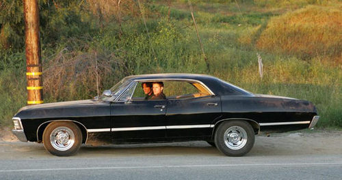 Supernatural series, Supernatural series car, Supernatural brothers, Chevy Impala