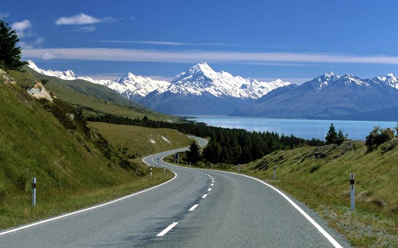 road, sea