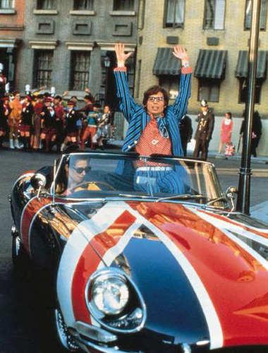 "Austin Powers movie, Austin Powers car, 1970 ""Shaguar"" E-Type, Shaguar"
