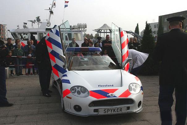 Spyker C8 Spyder, police car