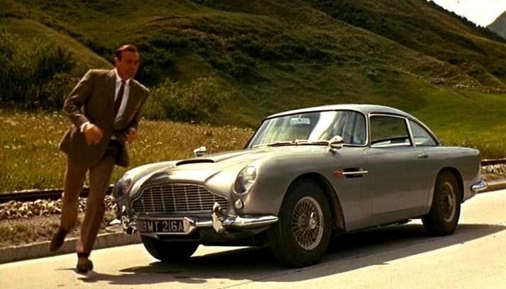 Goldfinger movie, Goldfinger car,1963 Aston Martin DB5, Aston Martin