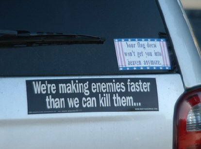 car, car sticker, funny, enemy
