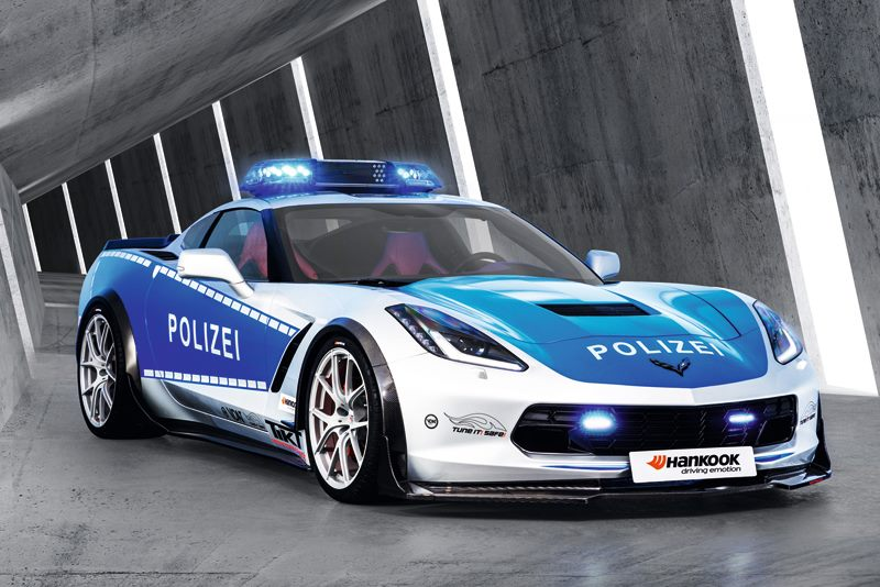 police tuned Corvette