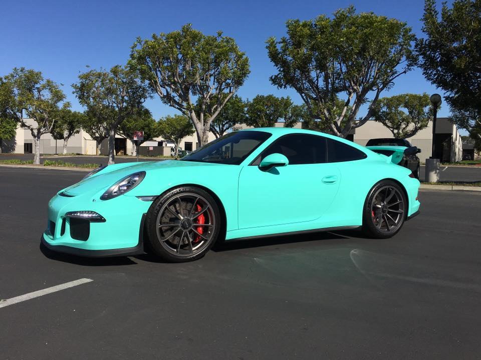 wrapped Porsche