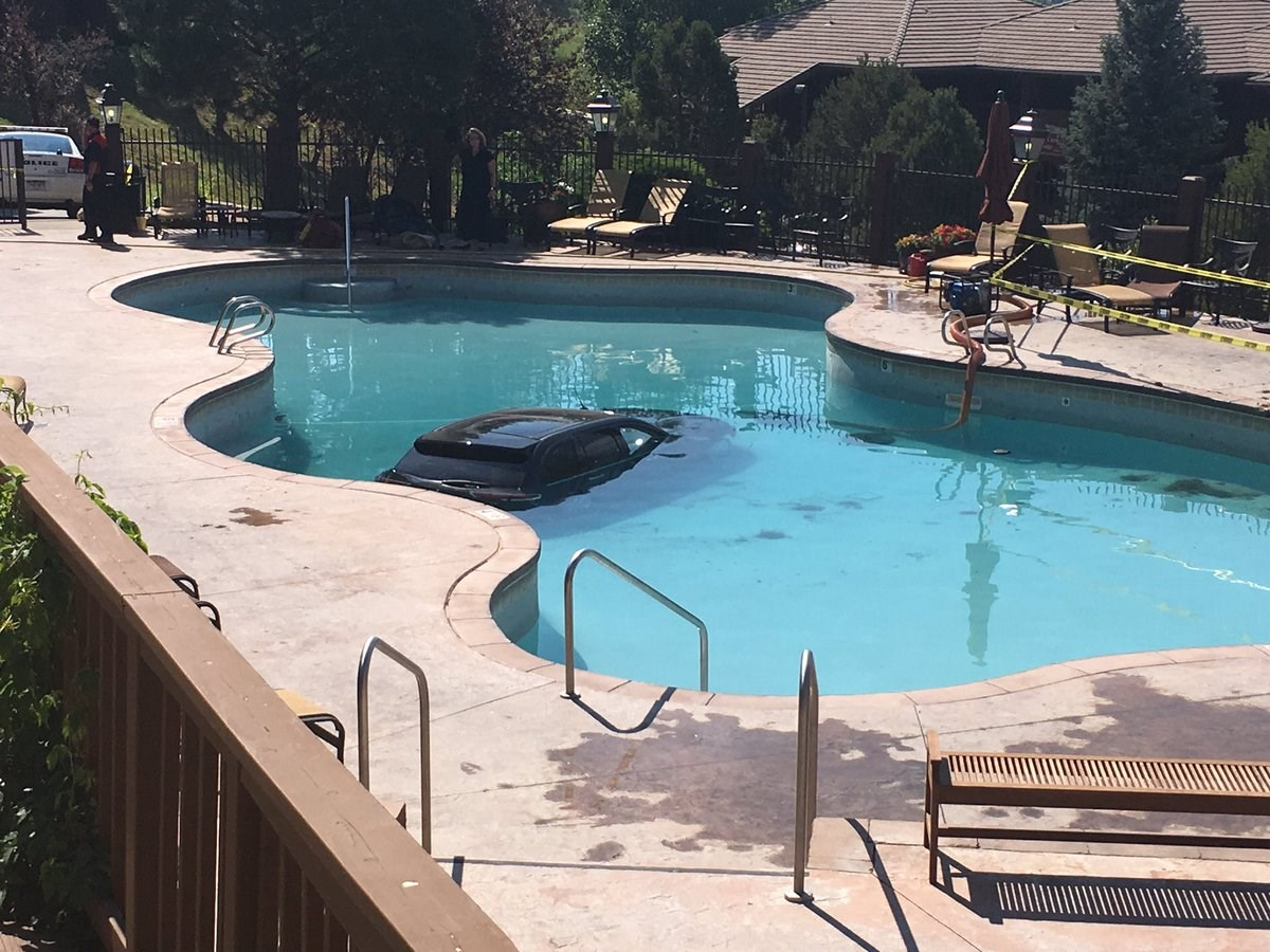 73 year old woman drove into a swimming pool for Mountain view motors colorado springs co