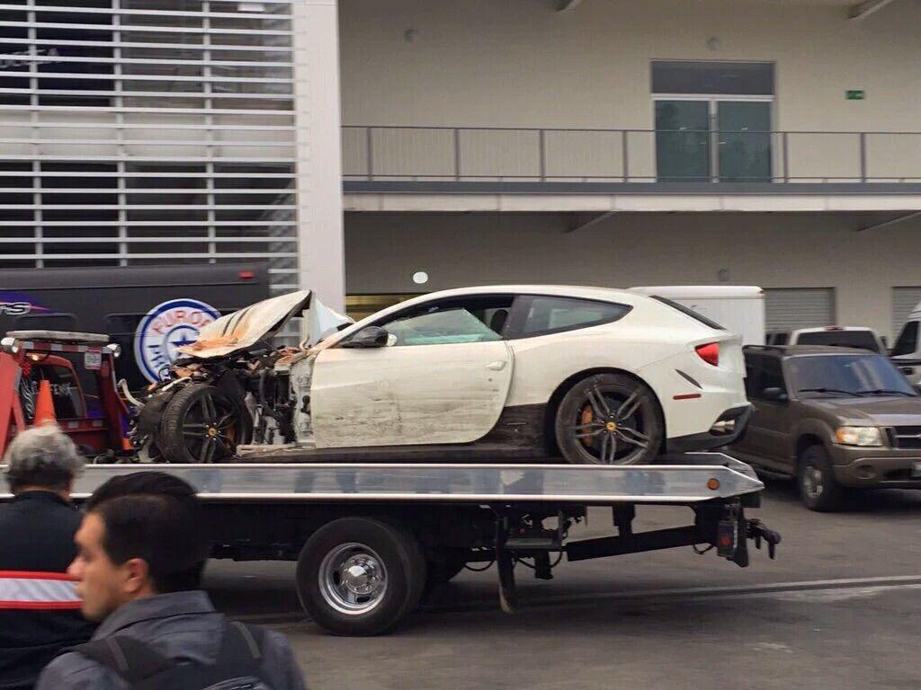 Ferrari wreck