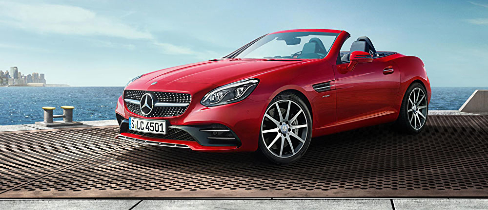 mercedes benz launches a stunning slc convertible. Black Bedroom Furniture Sets. Home Design Ideas
