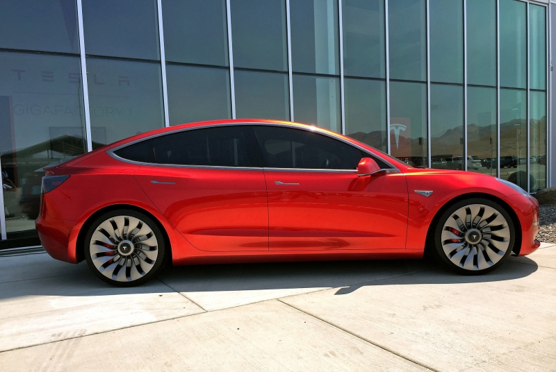Tesla's long-awaited, lower-priced Model 3 sedan expected Friday