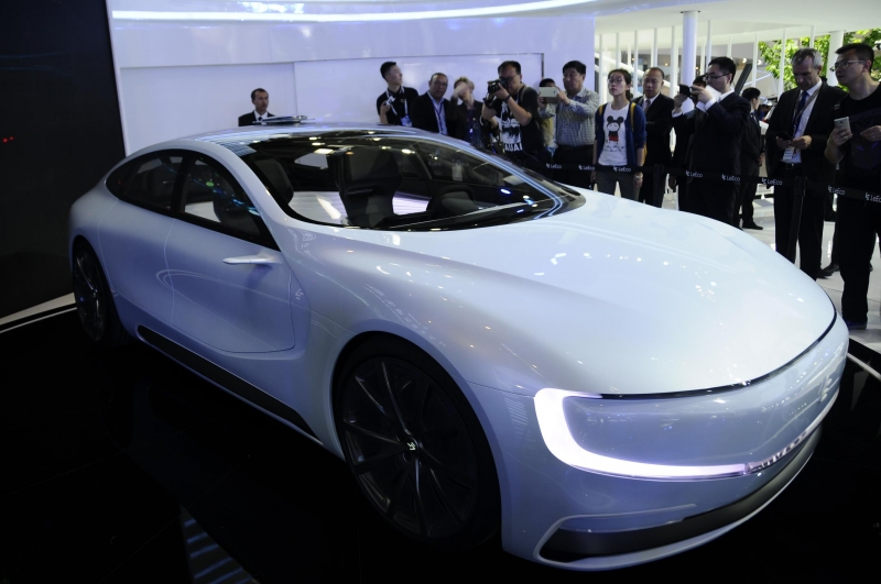 The futuristic Chinese electric smart supercar
