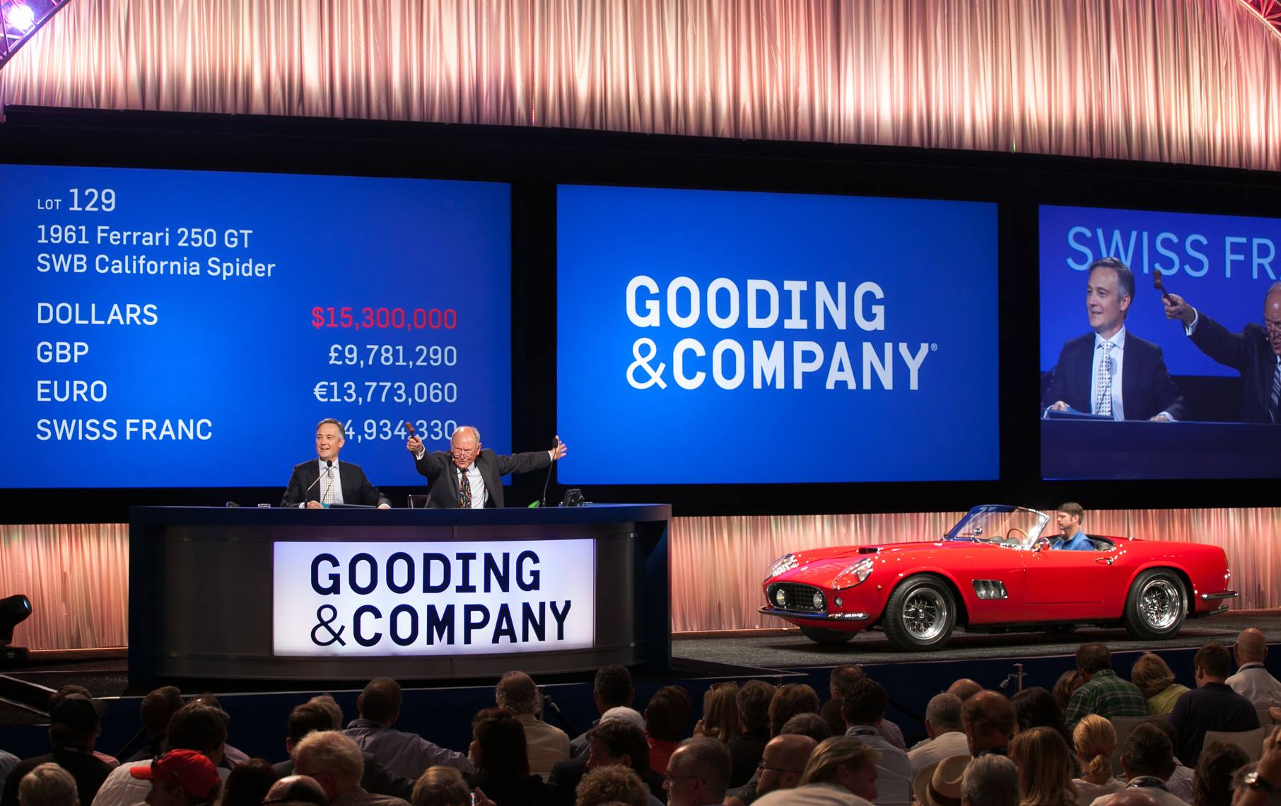Crazy expensive cars sold by Gooding & Company auction house this year