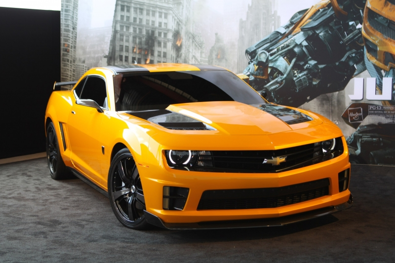 Bumblebee as a Chevy Camaro in Transformers: The Last Knight!