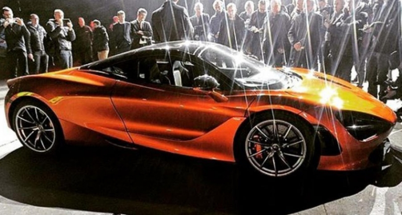 Spy pictures of the upcoming 2018 McLaren P14