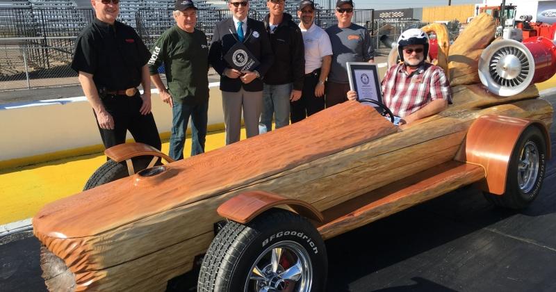 A Canadian MAN Built World's Fastest Motorized Log Car