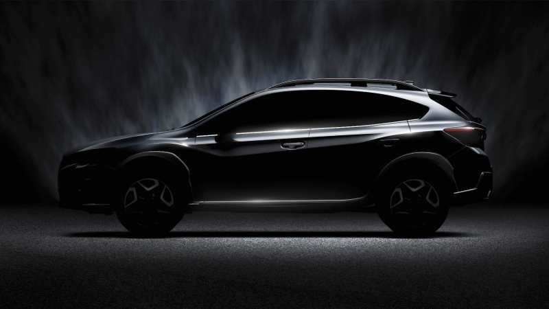 Subaru released a shadowy teaser of the redesigned Crosstrek