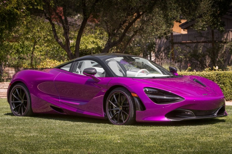 McLaren 720S goes all-purple