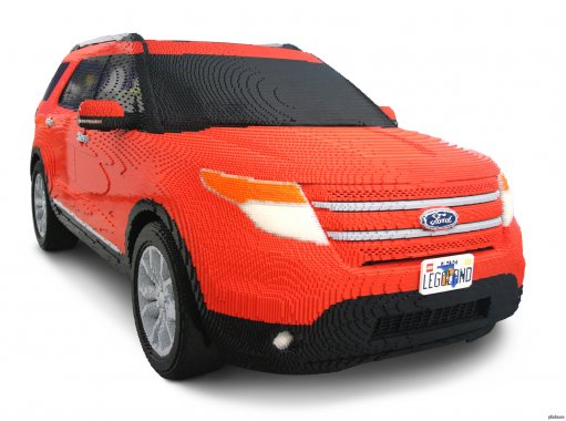 Life-Size 2012 Ford Explorer Made from LEGO Bricks!