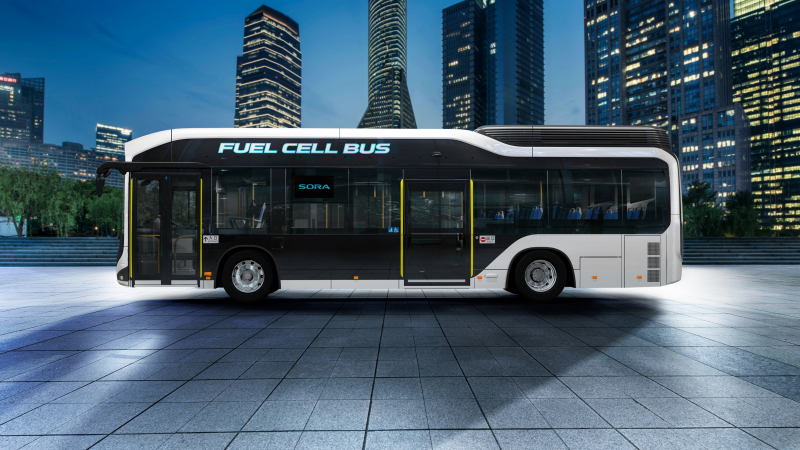 Toyota Presents Production Hydrogen Fuel Cell Bus Sora