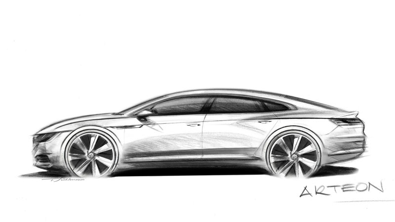 VW previews new Arteon fastback to replace CC