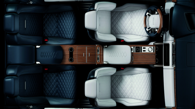 Range Rover teases the interior photo of its limited edition SV Coupe