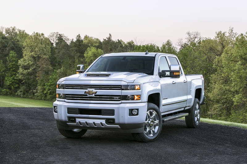 General Motors' new pickups with 6.6-liter Duramax turbodiesel V8