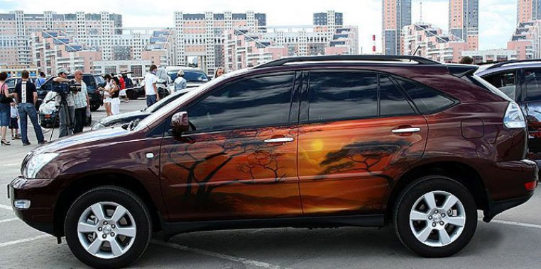Genius Car Airbrush Painting