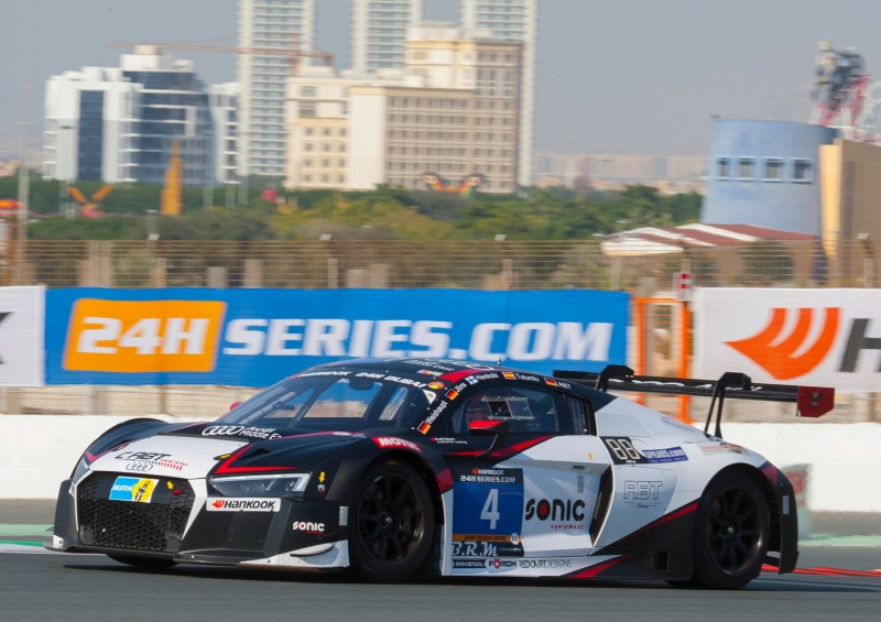 A double success for the Audi team at the 2016 edition of the 24 Hours of Dubai race