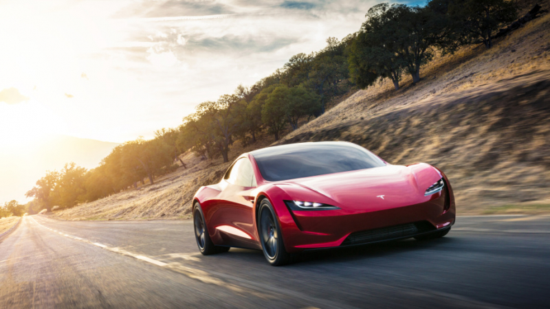 Tesla boss teases a flying version of Roadster supercar