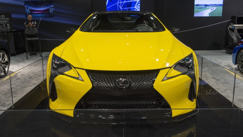 The modified Lexus LC 500 at 2016 SEMA show