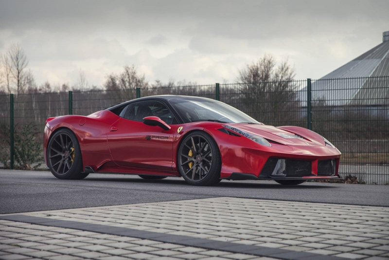 A new 11 components widebody kit from Prior Design for Ferrari 458 Italia
