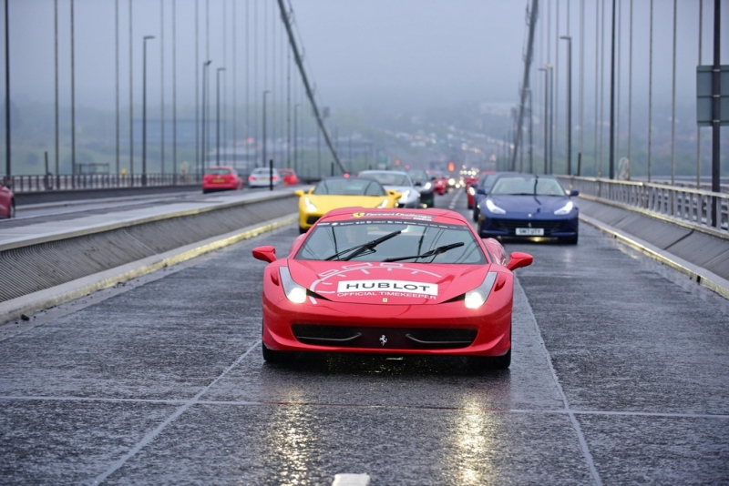 Ferrari Owners Club GB organized one of the biggest Ferrari parades