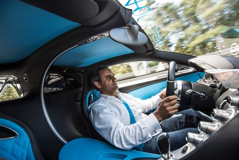 Chiron goes from 0 to 249 mph and back again in just 42 seconds