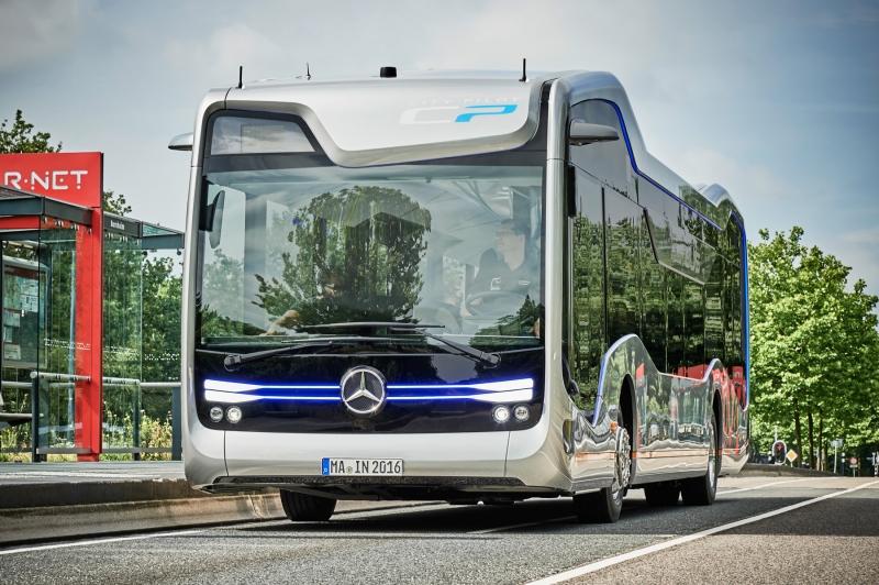 Landmark trip with the first Mercedes-Benz's CityPilot autonomous  bus