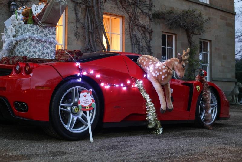 Santa switched to Ferrari Enzo