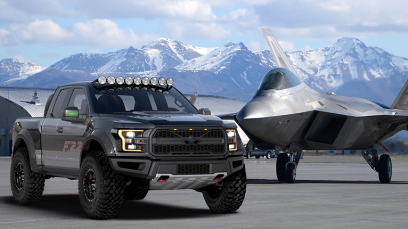 One-off F-22 Ford F-150 Raptor to be auctioned to support young pilots