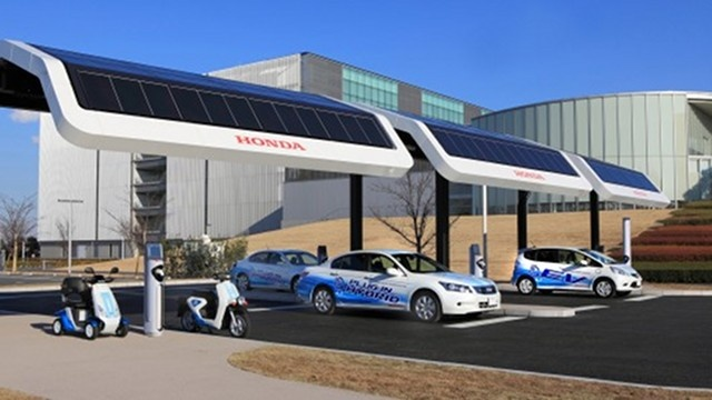 Solar-powered electric-car charging is tested by Honda in Marshall Islands