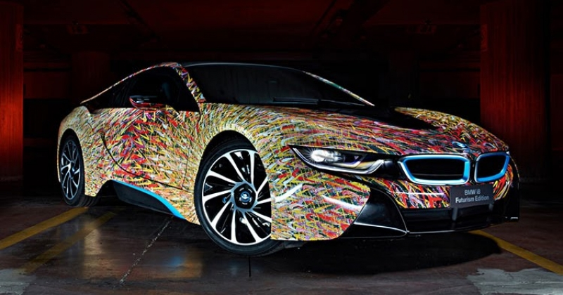 This BMW i8 Futurism is a real Art Car