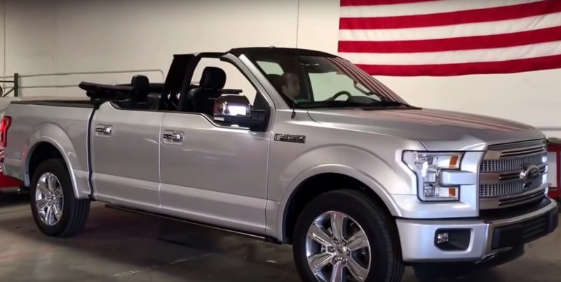 You're going to want this 2017 Ford F-150 Convertible!