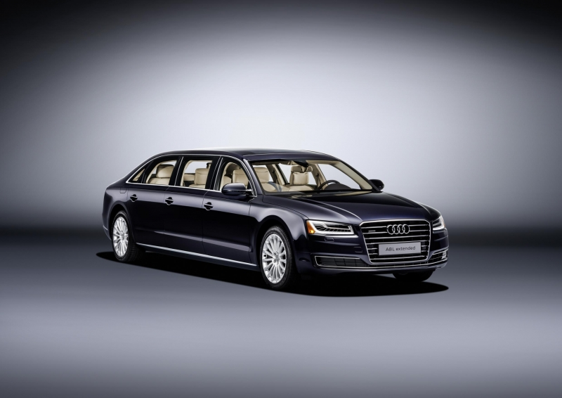 A mind-blowing Audi A8 Extended edition turned to a luxury limousine