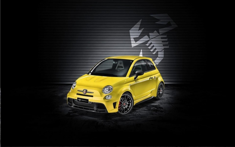 There are only 133 stunning Modena Yellow Abarth 500 Biposto Record!