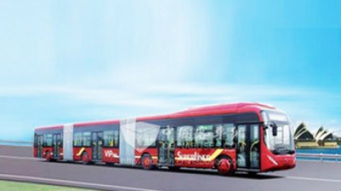 The Chinese made the world's largest bus!