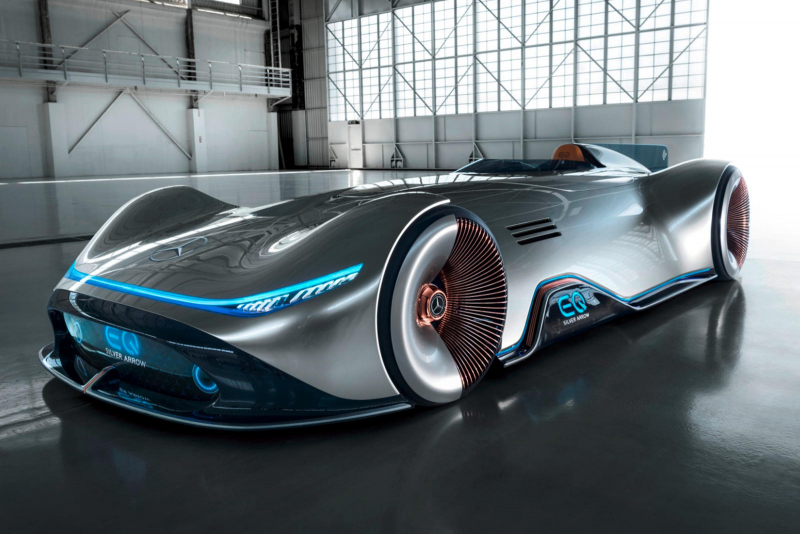 Mercedes Vision EQ Silver Arrow Is A Stunning 750-HP Electric Speedster